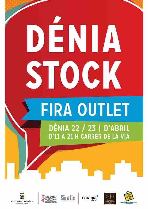 La feria outlet Dénia Stock se celebra el 22 y 23 de abril en la calle La Vía