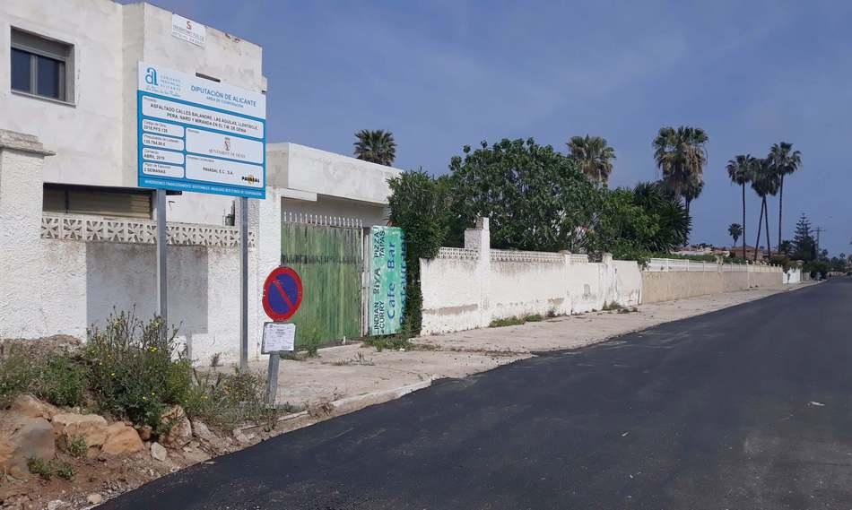La Diputació d'Alacant subvenciona l'asfaltat de diversos carrers del terme municipal
