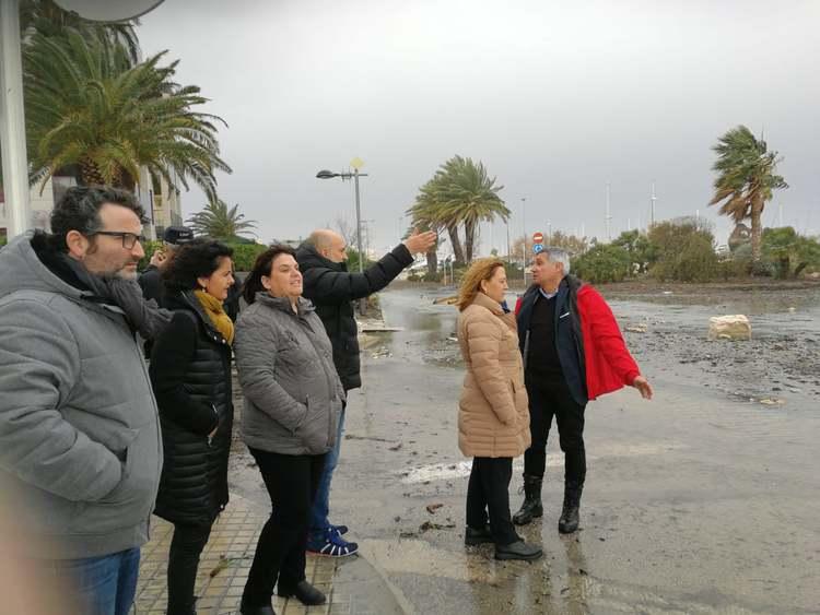 El delegat del Govern en funcions visita les zones afectades pel temporal a Dénia