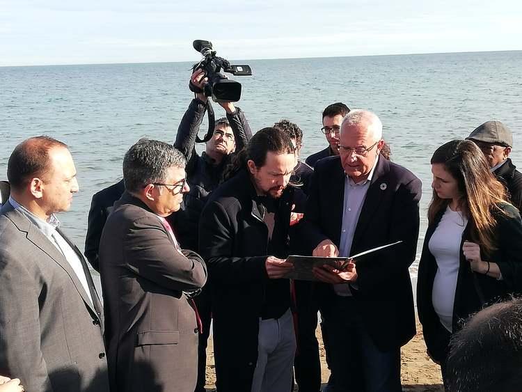 El vicepresident segon del Govern, Pablo Iglesias, visita Dénia després del temporal