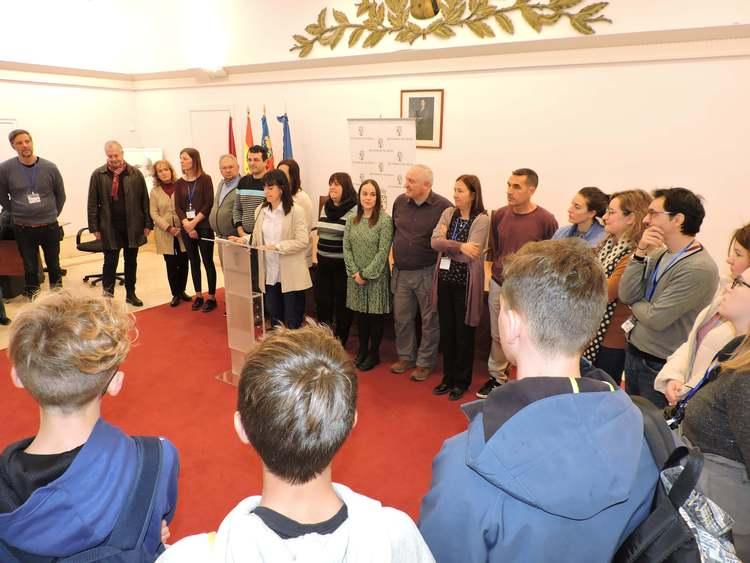 Recepció als socis europeus del col·legi Paidos en  el projecte Erasmus+ Lost in Space