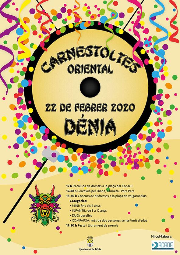 El dissabte 22 de febrer, Carnestoltes a Dénia