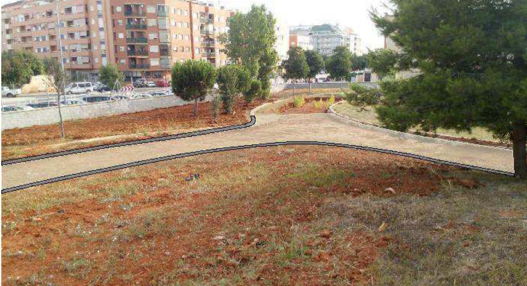 La primera actuación en el Bosc de Diana consistirá en la creación de una senda peatonal en ...