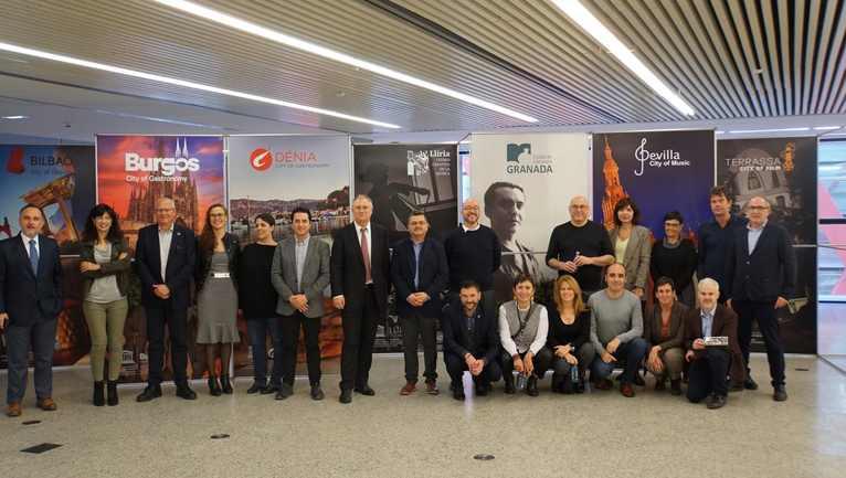 Les delegacions de les Ciutats Creatives UNESCO d'Espanya