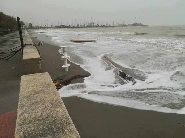 Paseo de la Marineta después del temporal