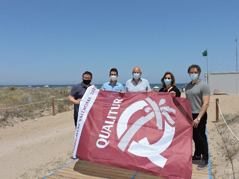 Turisme CV concede ocho banderas Qualitur a las playas de Dénia
