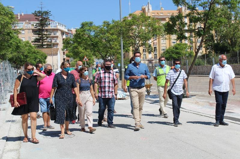 El diputado provincial de Infraestructuras visita Dénia para conocer los proyectos con que l...