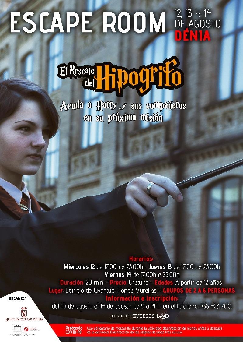 Escape room amb temàtica de Harry Potter per a celebrar el Dia internacional de la Jove...