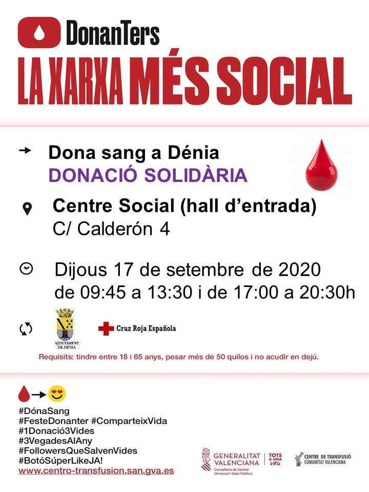 Jornada de donació solidària al Centre Social de Dénia