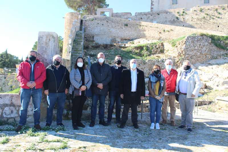 La restauració del Verger Alt i el baluard oriental del castell de Dénia posa en valor les a...