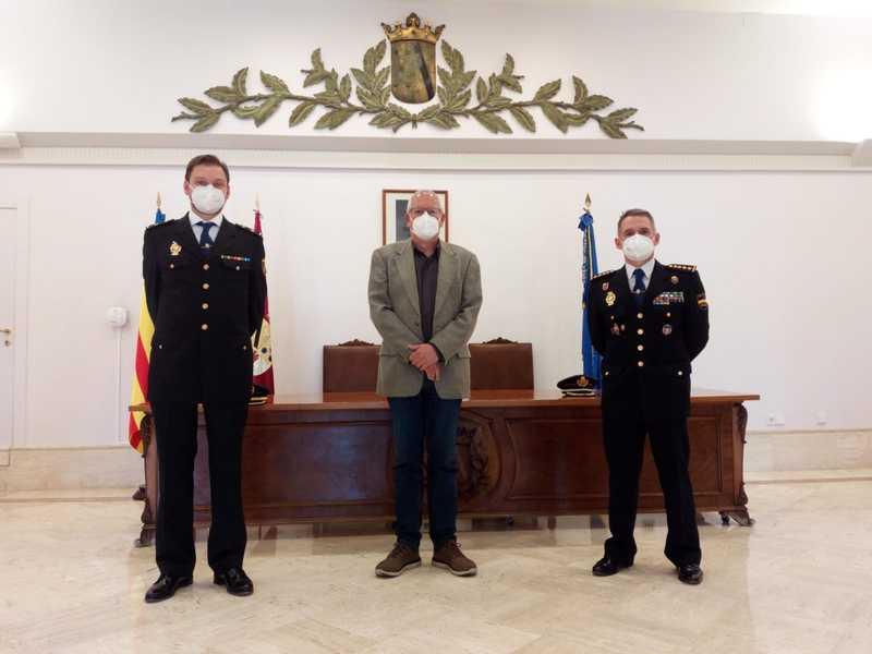 L'alcalde es reuneix amb el nou cap de la comissaria de Policia Nacional de Dénia