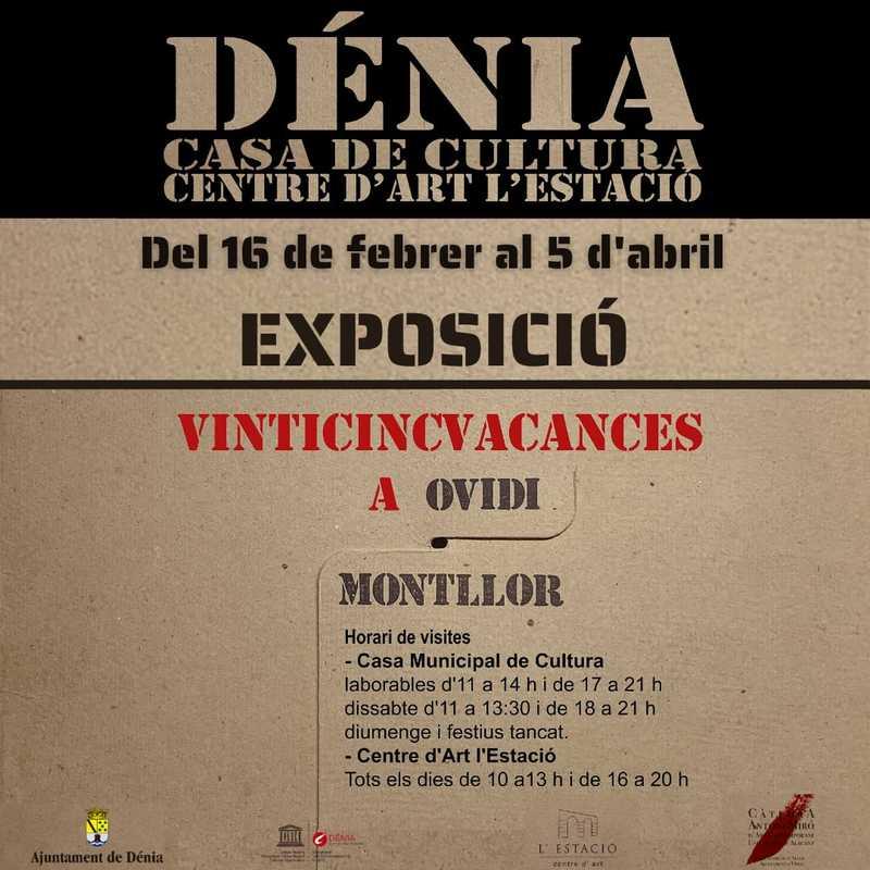 """La exposición """"Vinticincvacances a Ovidi Montllor"""" se puede visitar en Dénia a partir del 16..."""