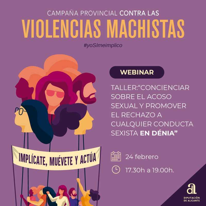 Dénia participa en la campanya contra les violències masclistes #*yoSImeimplico de la Diputa...
