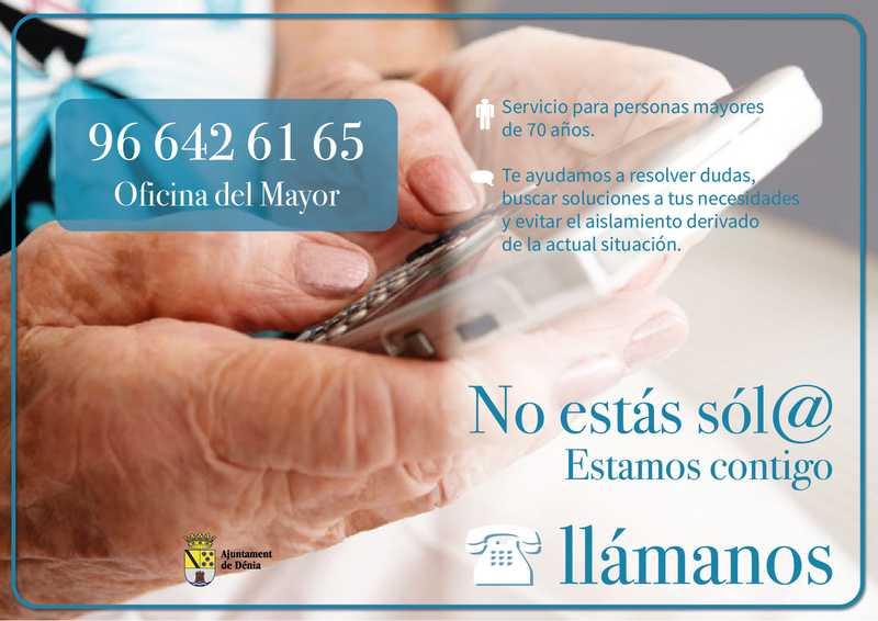 La Concejalía del Mayor pone en marcha un servicio telefónico de consulta y acompañamiento p...