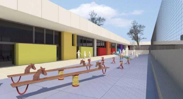 L'Ajuntament de Dénia aprova el projecte del nou aulari i gimnàs del col·legi Pou de la Mu...