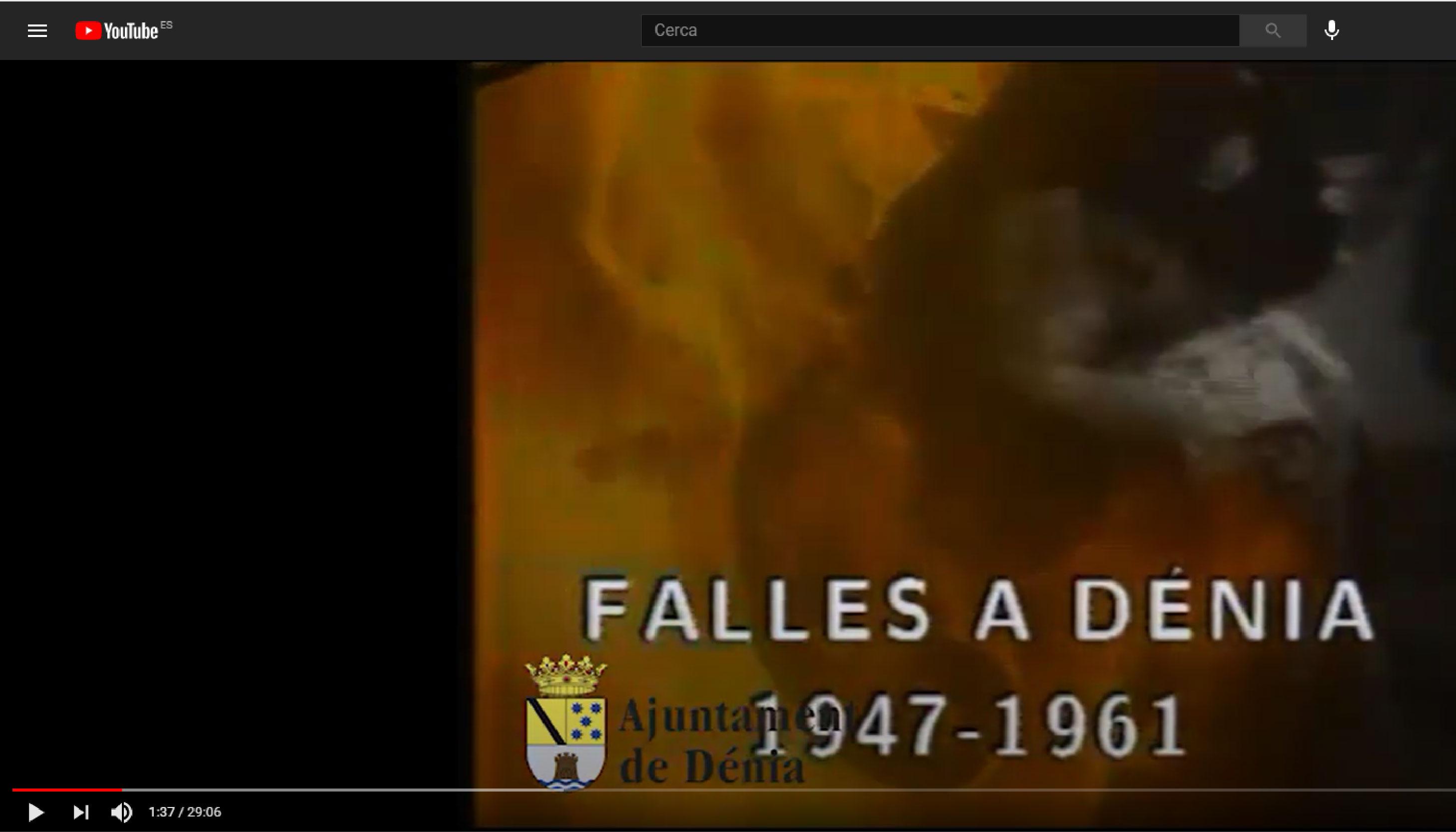 """L'Arxiu de Dénia posa a l'abast de la ciutadania, a YouTube, el documental """"Fal..."""