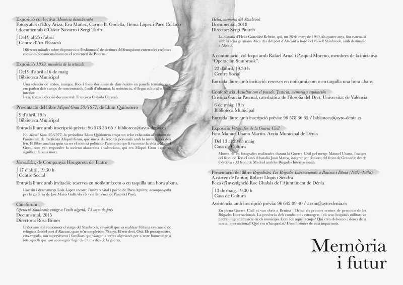 """El cicle """"Memòria i futur"""" presenta una visió polièdrica sobre la guerra, la repressió i la ..."""