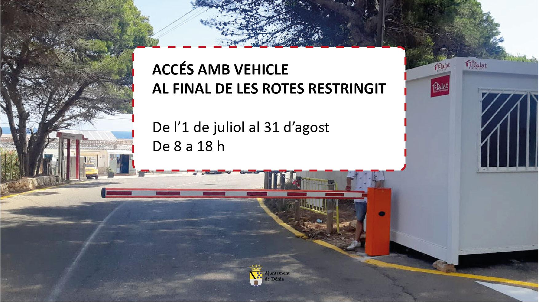 A partir de demà, el minibús del final de les Rotes es substitueix per un 'trenet' t...