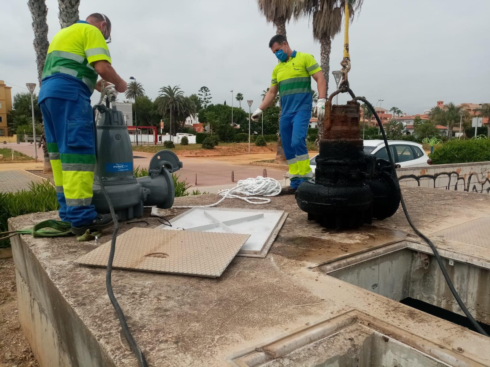 Aguas de Dénia inverteix 210.000 € en la millora de la xarxa de pluvials